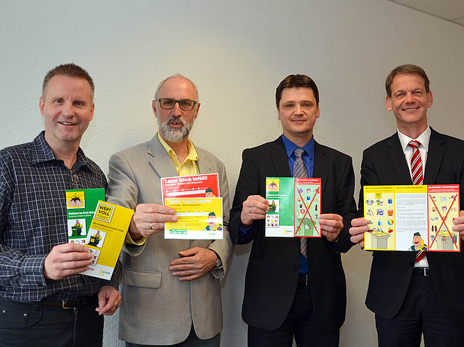 Andreas Schneider, Ludwig Holzbeck, Andreas Hellmich und Stefan Jonic.